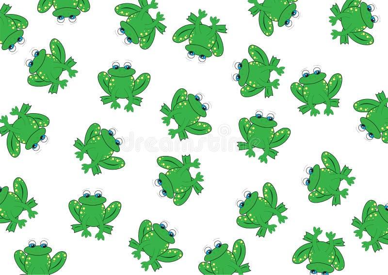 tło żaba ilustracji