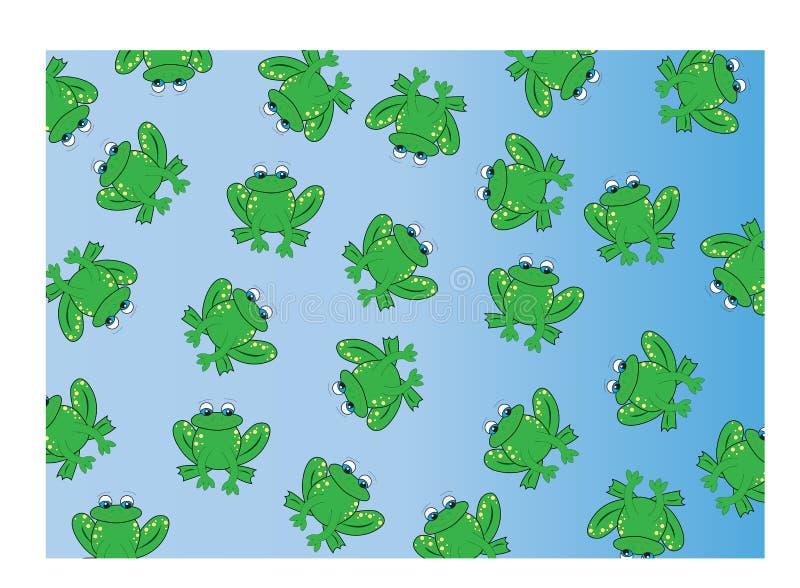 tło żaba ilustracja wektor