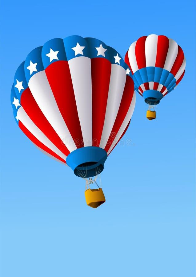 tło 4 lotniczego balonu gorący Lipiec ilustracji