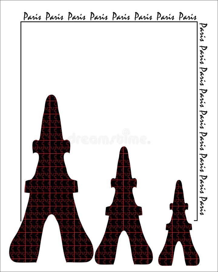 tło abstrakcjonistyczna karta Paris ilustracja wektor