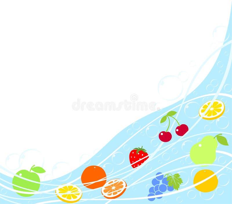 tło abstrakcjonistyczna owoc ilustracja wektor