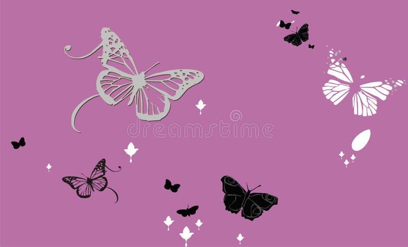 tło abstrakcjonistyczni motyle ilustracji