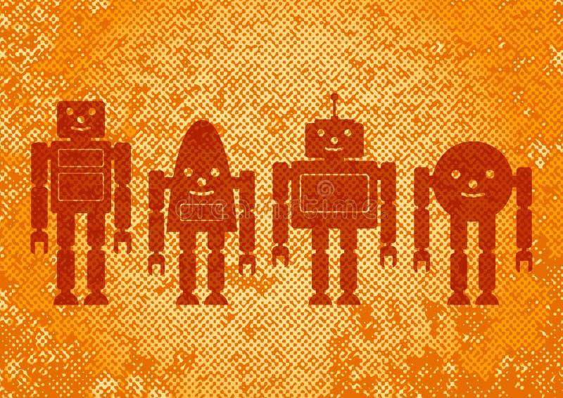 tło abstrakcjonistyczni roboty ilustracji