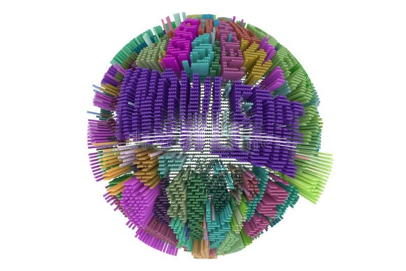 Tło abstrakcjonistyczny biznes lub finanse, geometrycznej struktury sph ilustracji