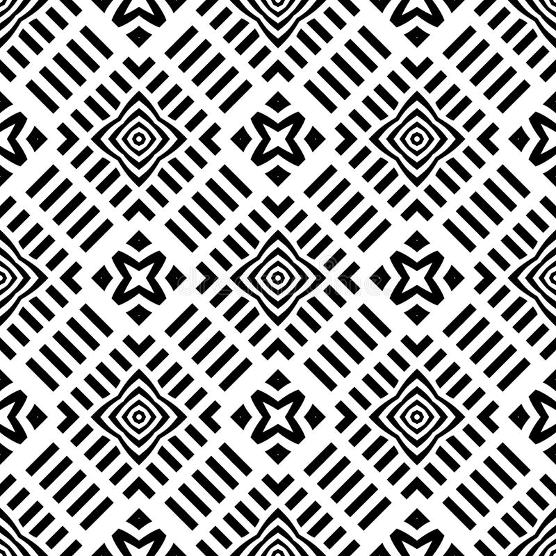 Tło, abstrakcjonistyczny geometryczny bezszwowy wzór, wektor ilustracji