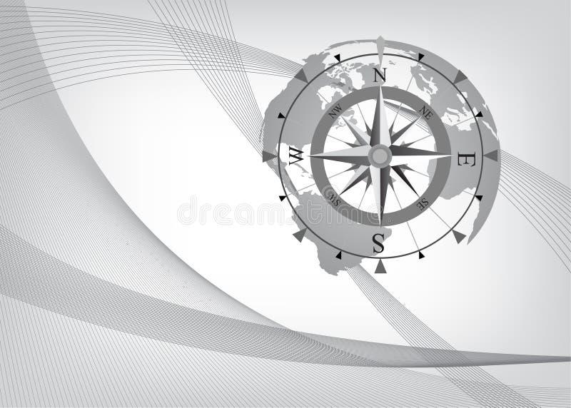 tło abstrakcjonistyczny kompas ilustracji