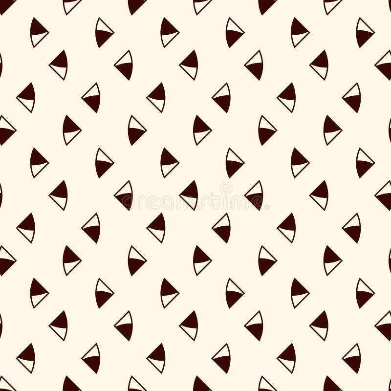 tło abstrakcjonistyczny minimalista Prosty nowożytny druk z mini trójbokami Bezszwowy wzór z geometrycznymi postaciami ilustracji