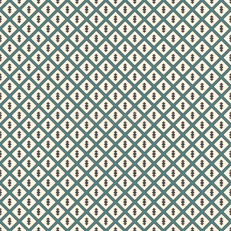 tło abstrakcjonistyczny minimalista Prosty nowożytny druk z strzała Błękit barwi bezszwowego wzór z geometrycznymi postaciami royalty ilustracja