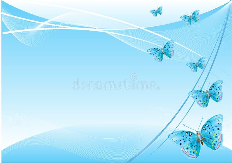 tło abstrakcjonistyczny motyl royalty ilustracja