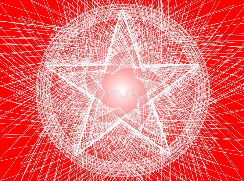 tło abstrakcjonistyczny pentagram ilustracja wektor