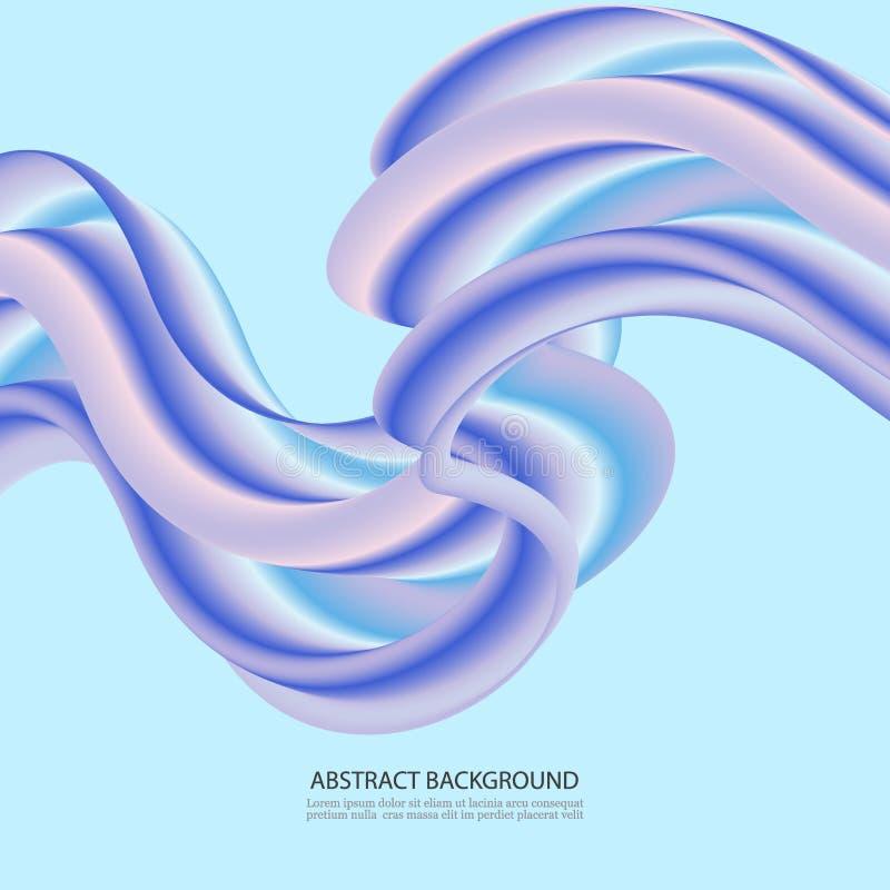 tło abstrakcjonistyczny przepływ Falowi fluidów kształty w Błękitnym kolorze Modna Wektorowa ilustracja EPS10 dla Twój Kreatywnie ilustracja wektor