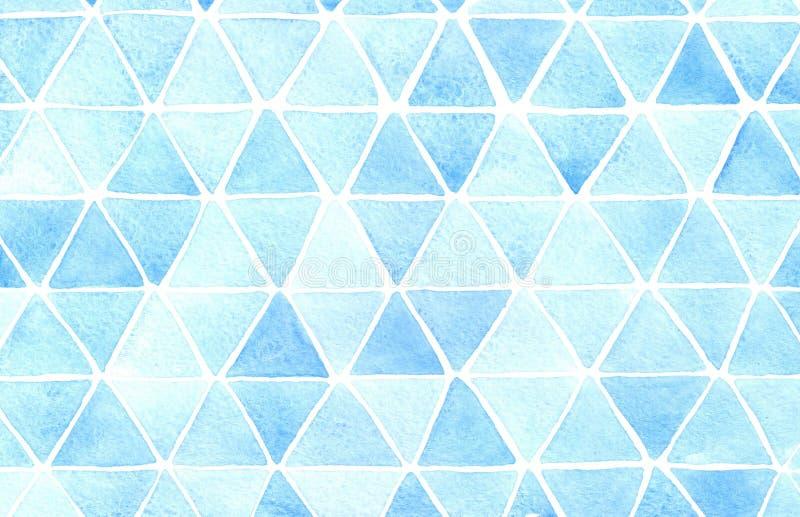 tło abstrakcjonistyczny trójbok Akwareli ręcznie robiony grafika royalty ilustracja