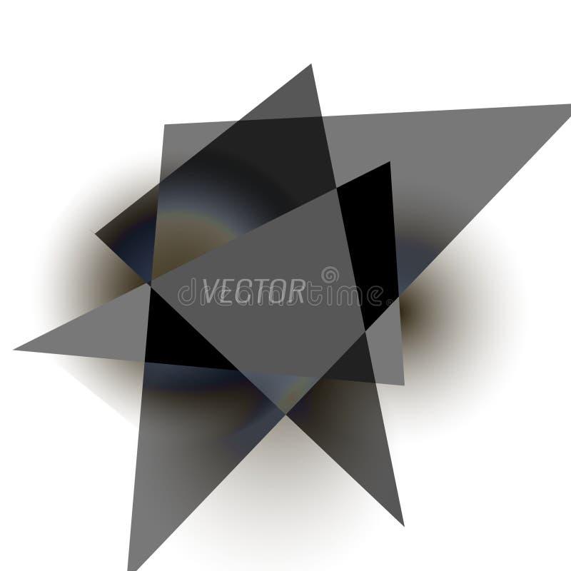tło abstrakcjonistyczny trójbok 3D trójboki również zwrócić corel ilustracji wektora royalty ilustracja