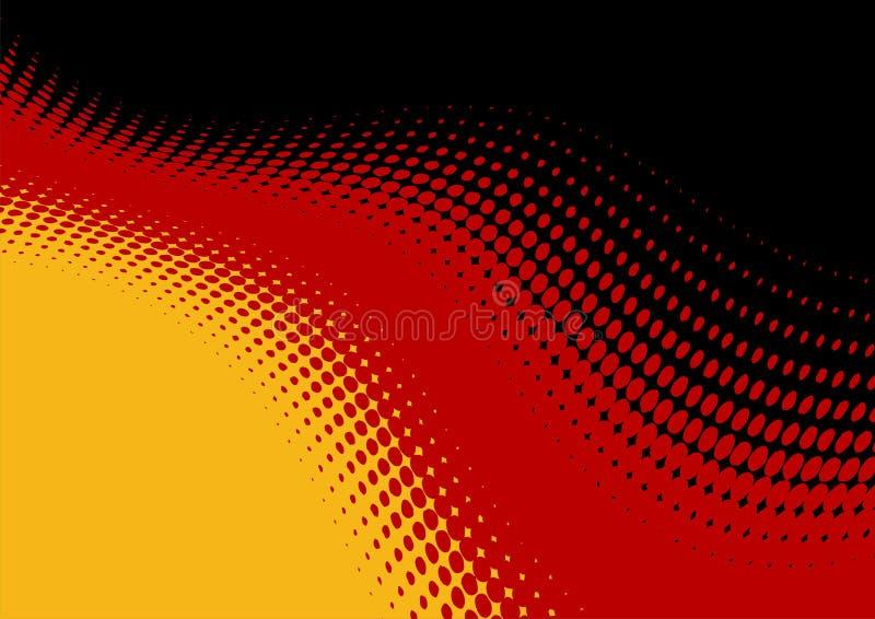 tło abstrakcyjna flaga niemiec ilustracja wektor