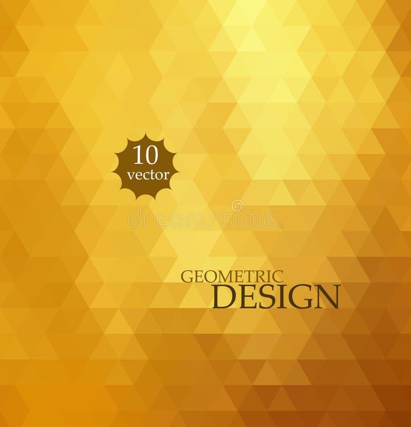 tło abstrakcyjna mozaika Trójboka geometryczny tło cztery elementy projektu tła snowfiake białego Kolor żółty, pomarańcze kolory royalty ilustracja