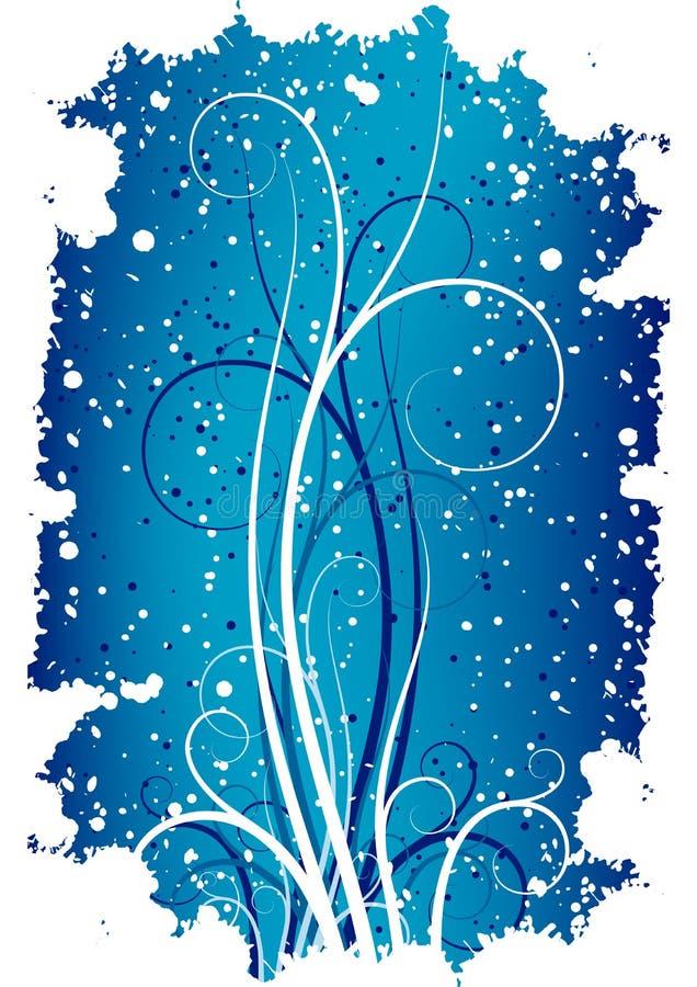 tło abstrakcyjna płatków grunge zwojów zimy. ilustracji