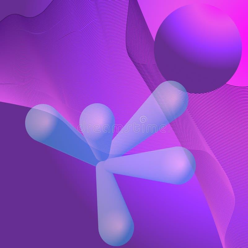 tło abstrakcyjna przestrzeni ilustracja wektor