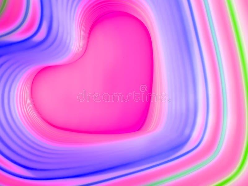 tło abstrakcyjna rainbow kolorowe serce Walentynki ` s dnia tło Różowa serce rama ilustracji