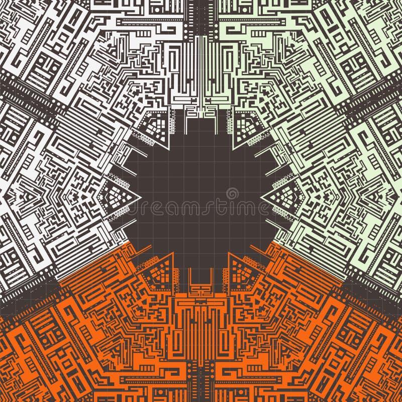 tło abstrakcyjna technologii ilustracji