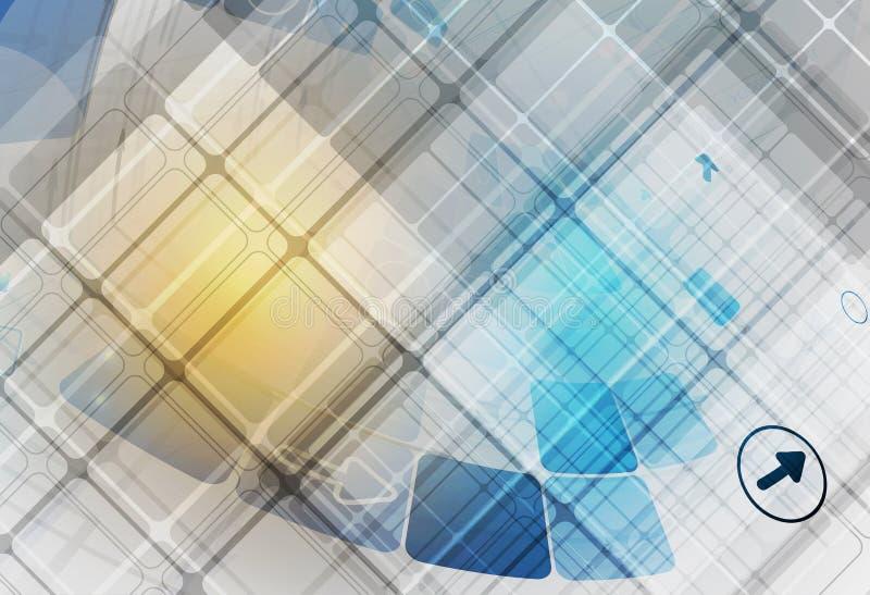 tło abstrakcyjna technologii Futurystyczny technologia interfejs Vecto royalty ilustracja