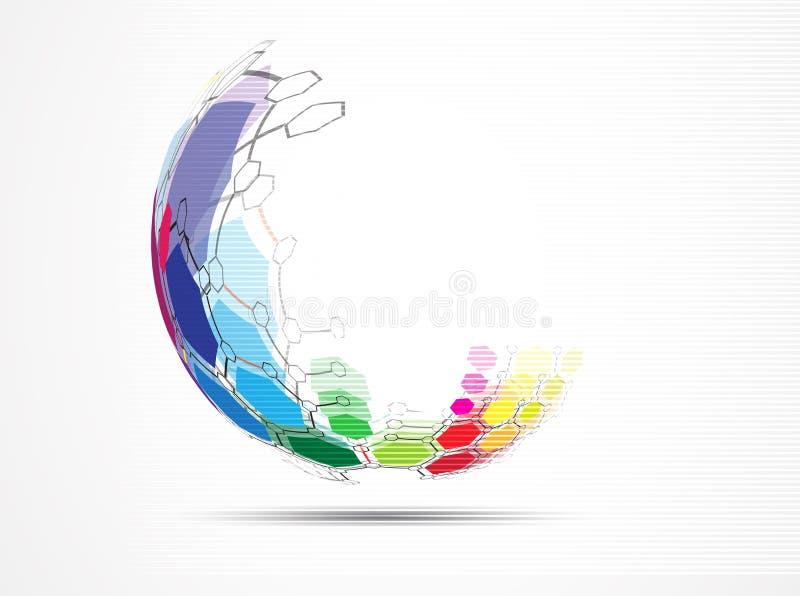 tło abstrakcyjna technologii Futurystyczny technologia interfejs Vecto ilustracji