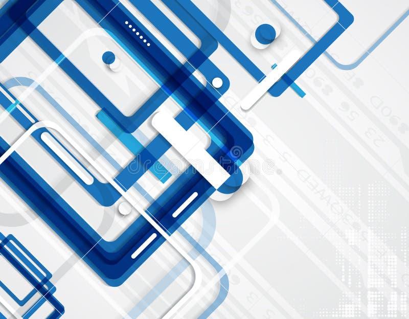 tło abstrakcyjna technologii Futurystyczny technologia interfejs Vecto ilustracja wektor