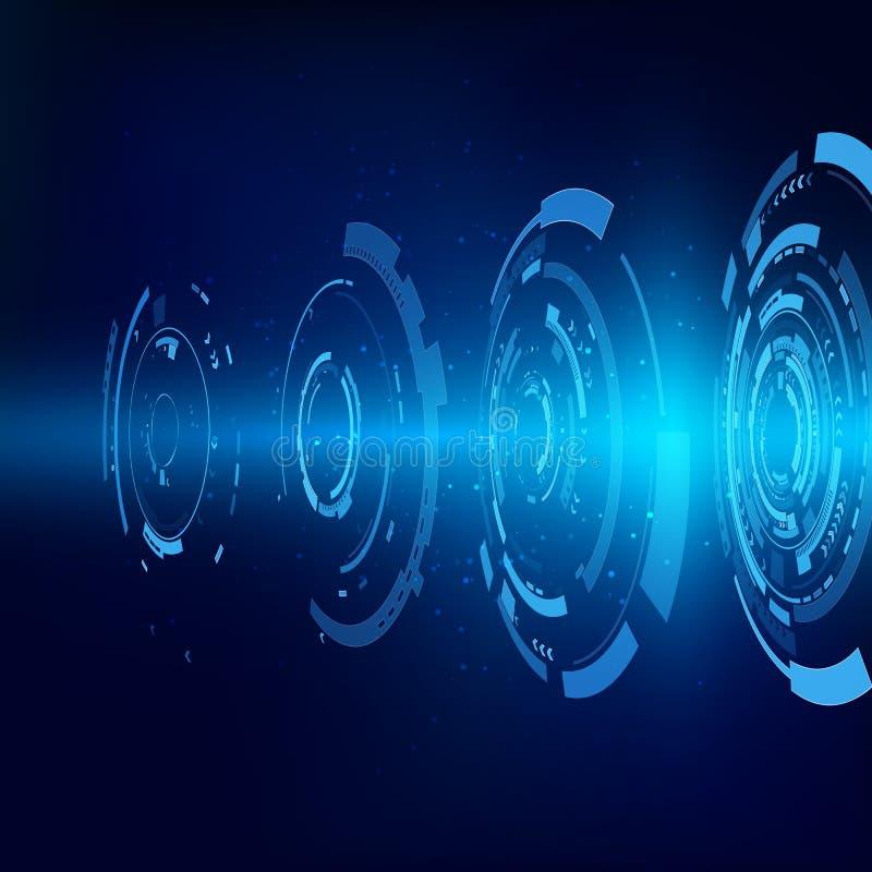 tło abstrakcyjna technologii HUD komunikacyjnego interfejsu pojęcia innowacji tło również zwrócić corel ilustracji wektora royalty ilustracja