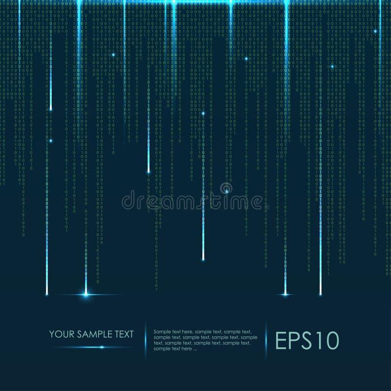 tło abstrakcyjna technologii Wektorowy binarny kod obraz stock