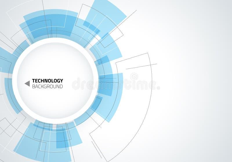 tło abstrakcyjna technologii Tło z wiele małymi technologia elementami ilustracji