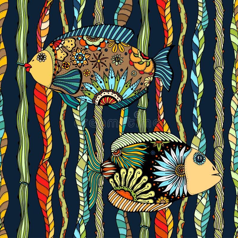 Tło abstrakt ryba royalty ilustracja