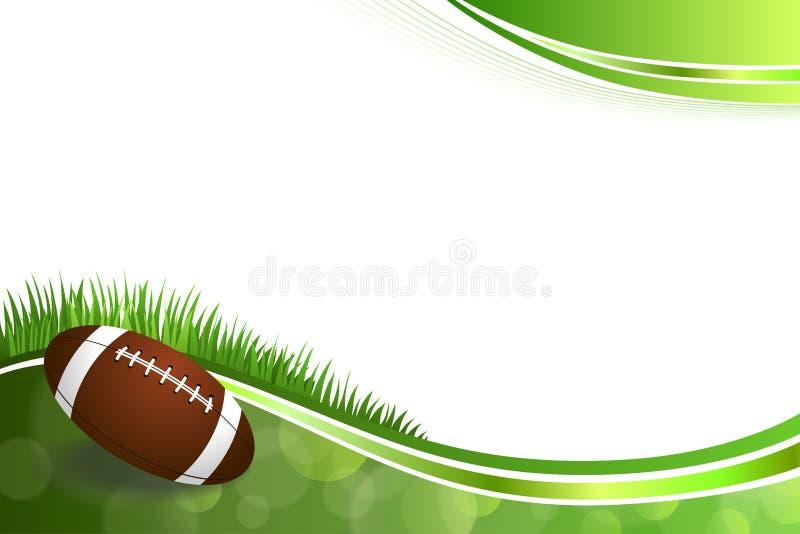 Tło abstrakta zieleni futbolu amerykańskiego piłki ilustracja royalty ilustracja