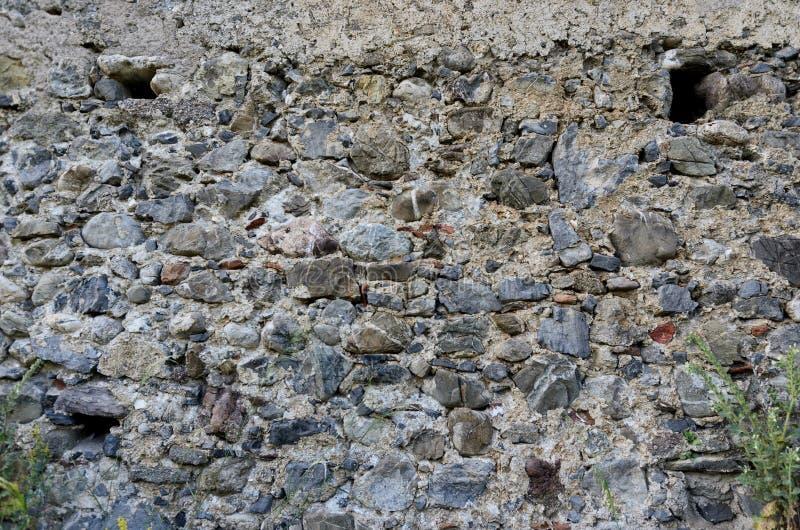 Tło antyczna kamienna sucha ściana w Włochy obrazy royalty free