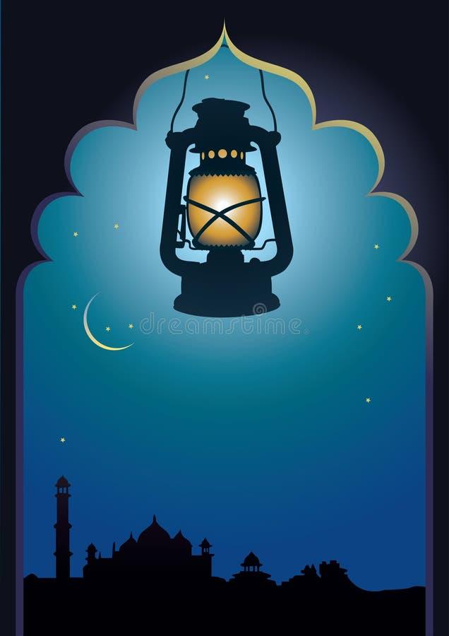 tło arabska lampa ilustracja wektor