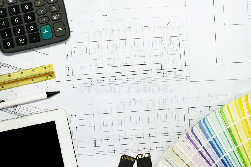 Tło architektów projekt obrazy stock