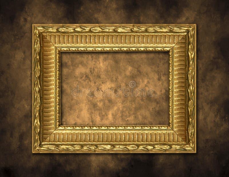 tło artystyczne rama złota fotografia royalty free