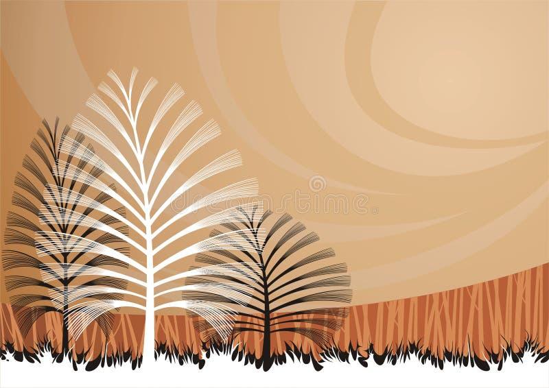 tło artystyczni drzewa royalty ilustracja