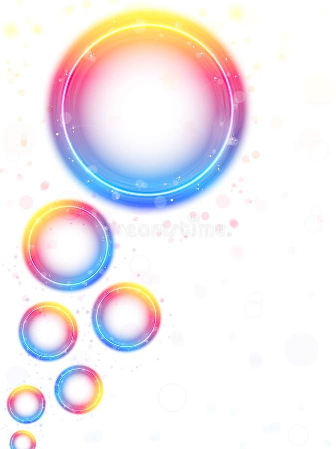tło bąble okrążają tęczę ilustracja wektor