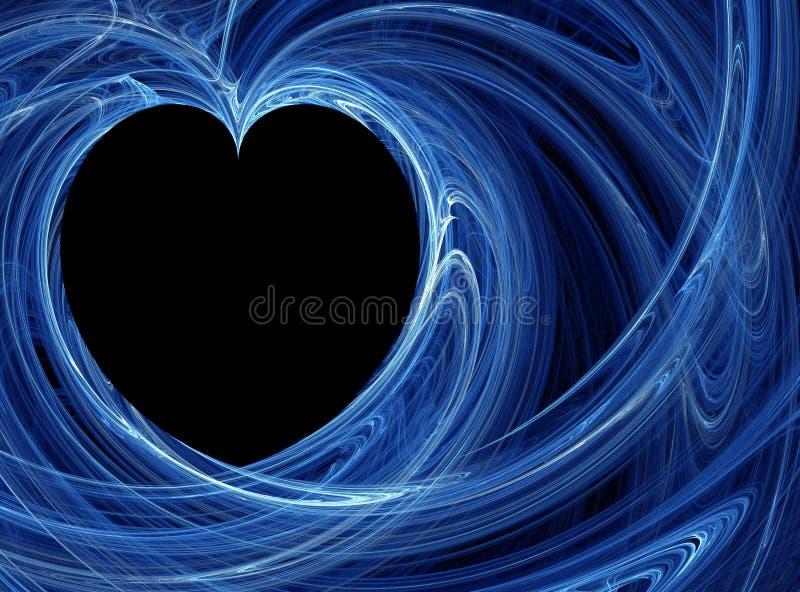 tło błękit serce royalty ilustracja