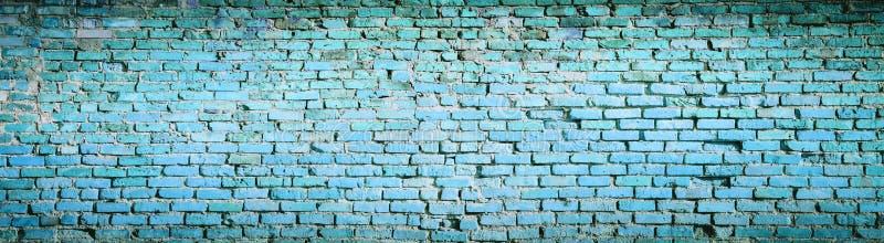 Tło błękitna ściana z cegieł wzoru tekstura Wysoka rozdzielczość p fotografia royalty free