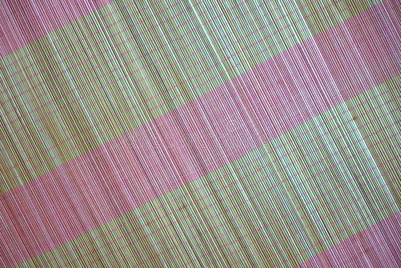 Tło bambus maty talerz, Kolorowy wzór, Bambusowa tekstura, Pusta przestrzeń bambus mata obraz stock