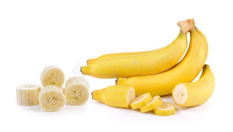 tło banany biali zdjęcie royalty free