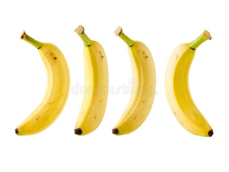 tło banany odizolowywali biel fotografia stock