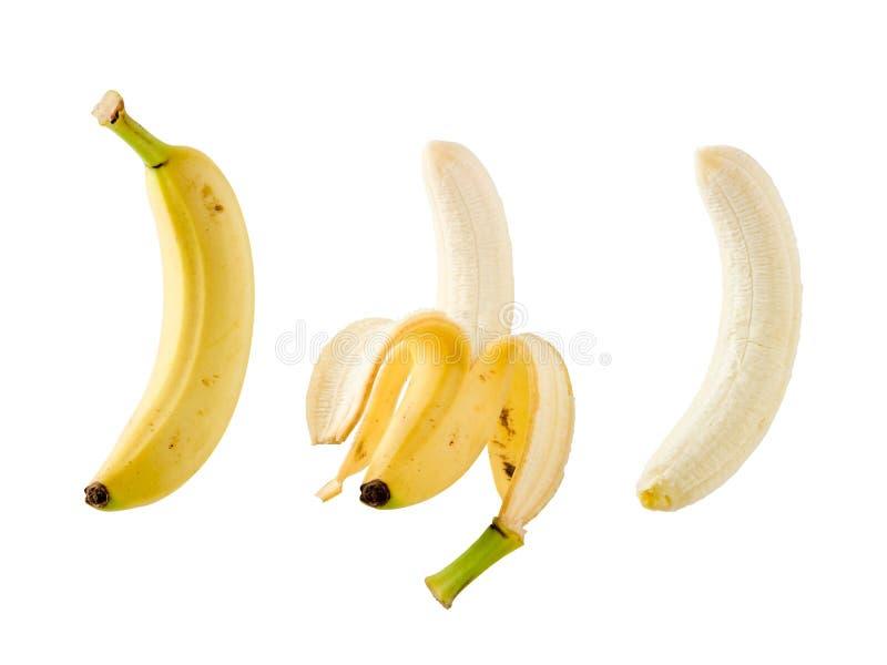 tło banany odizolowywali biel zdjęcie royalty free