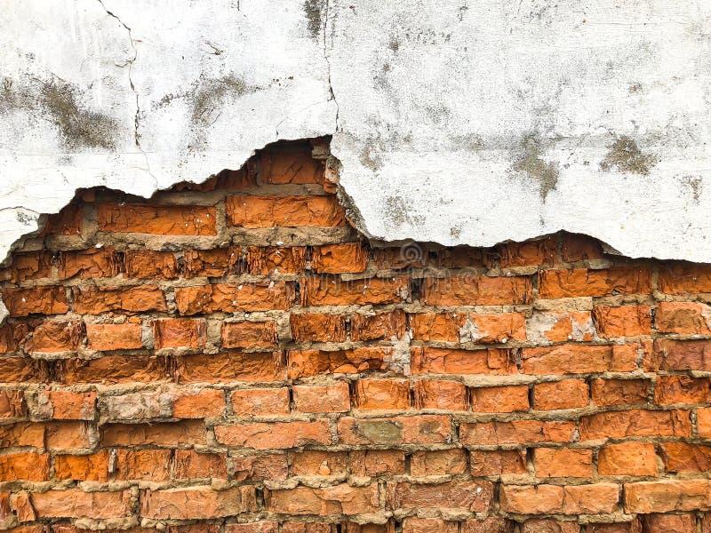 Tło, bardzo stara ściana z cegieł tekstura zdjęcia royalty free