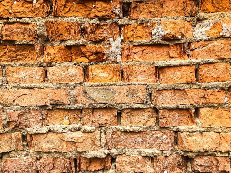 Tło, bardzo stara ściana z cegieł tekstura obrazy stock