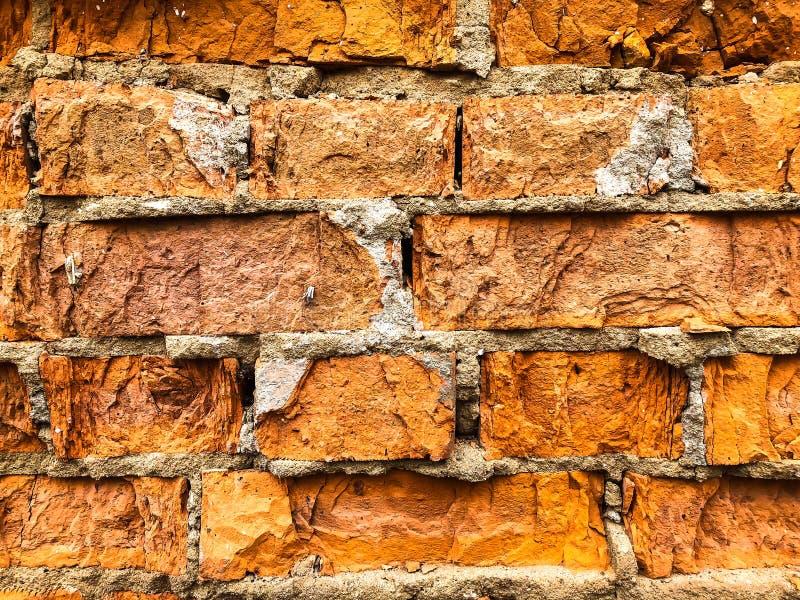 Tło, bardzo stara ściana z cegieł tekstura obraz royalty free