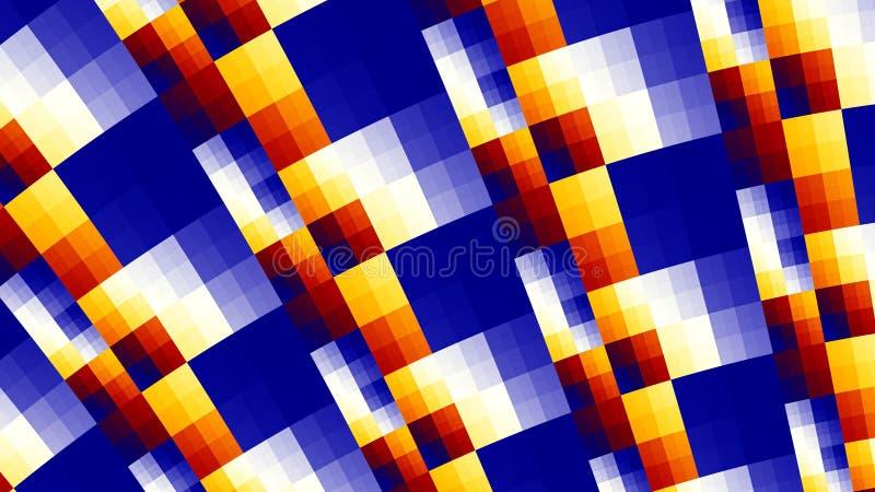 Tło barwiący kwadraty geometryczny wzór royalty ilustracja