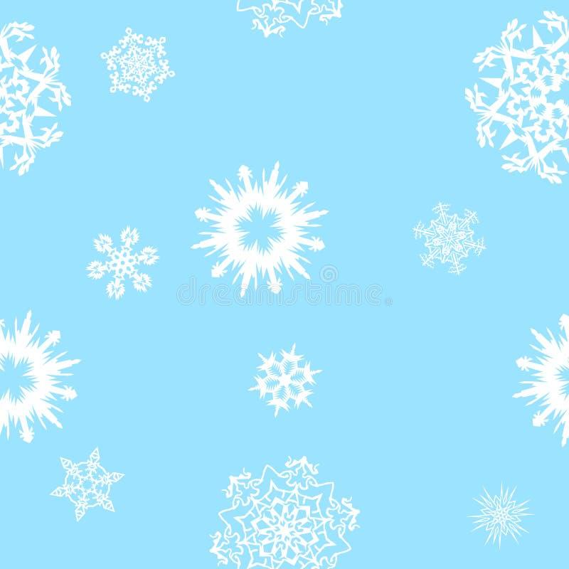 tło bezszwowi płatki śniegu ilustracja wektor