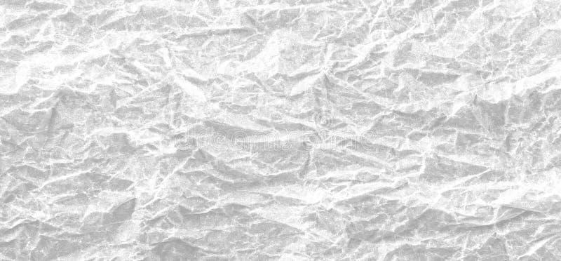 Tło biała zmięta papierowa panorama na widok fotografia royalty free