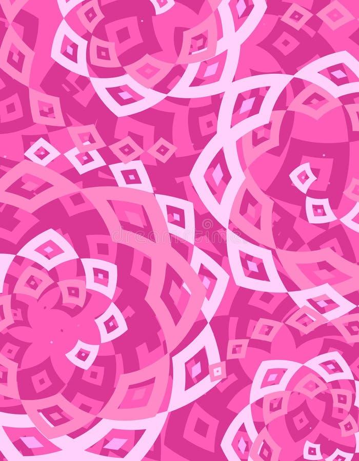 tło białe diamenty różowe światło ilustracji